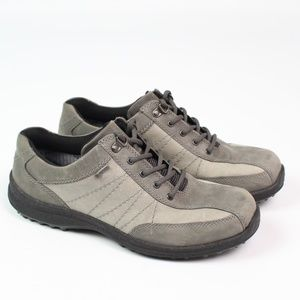 Hotter Comfort Control gray leather hiking shoe